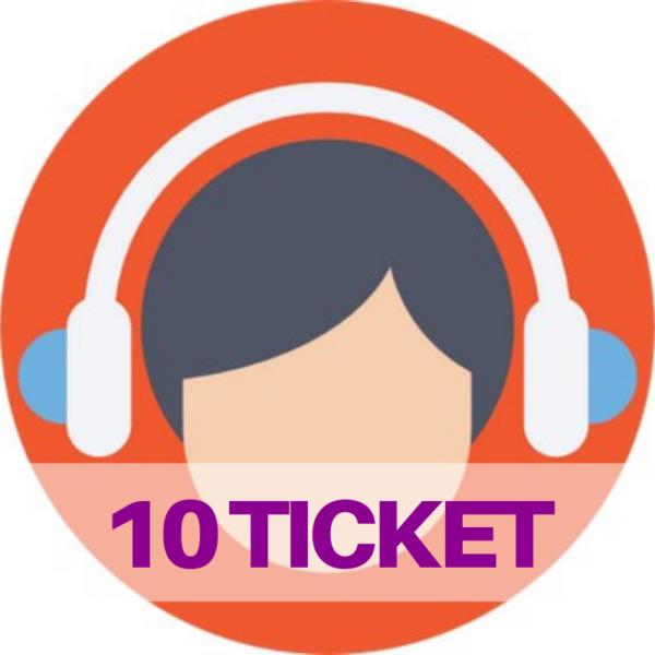 10 ticket assistenza web e social