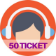 50 ticket assistenza web e social