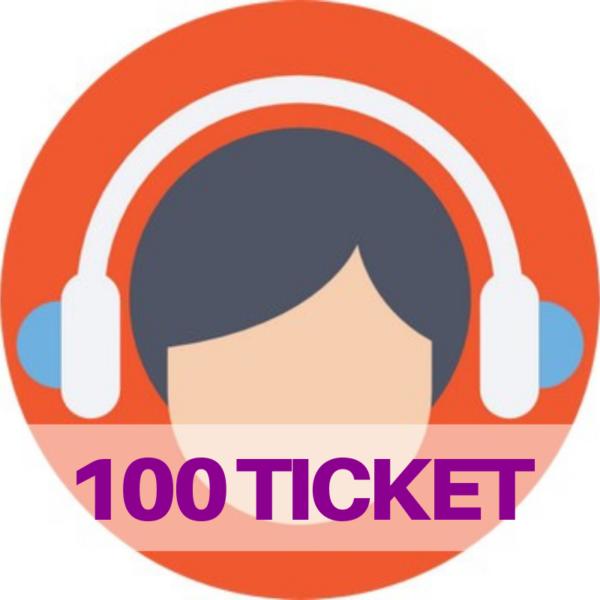 100 ticket assistenza web e social