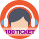 100 ticket assistenza web e social